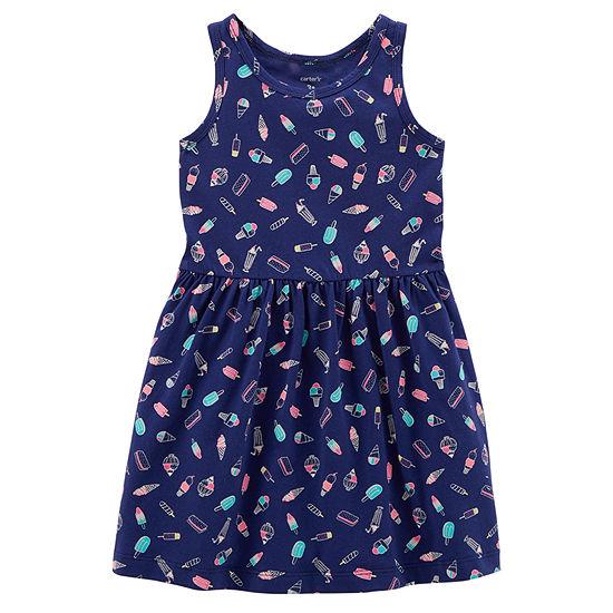 Carter's Girls Sleeveless A-Line Dress - Preschool