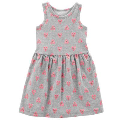 Carter's Sleeveless Hearts A-Line Dress - Toddler Girls