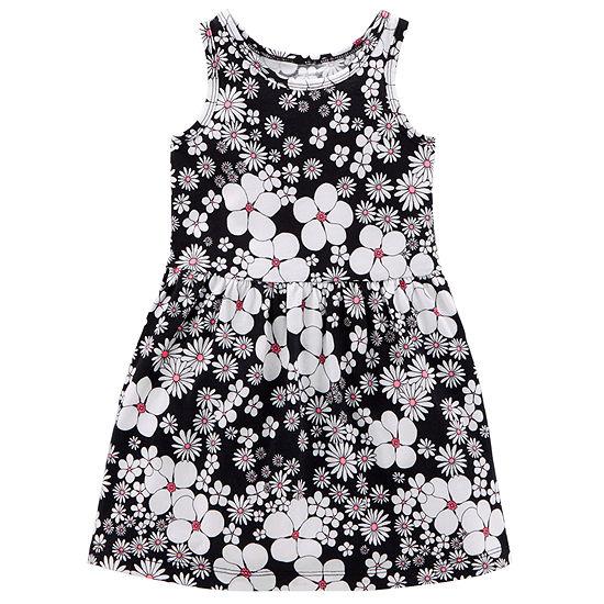 Carter's Girls Sleeveless Floral A-Line Dress - Toddler