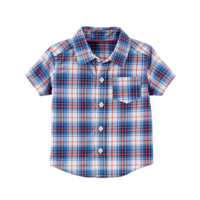 Carter's 4th Of July Short Sleeve Button-Front Shirt Boys