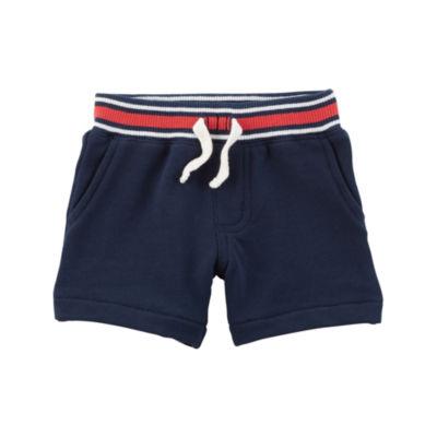 Carter's Knit Tie-Waist Pull-On Shorts - Baby Boy NB-24M