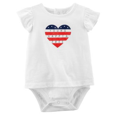 Carter's 4th Of July Short Sleeve Bodysuit - Baby Girls NB-24M
