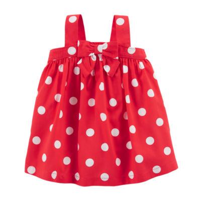 Carter's 4th Of July Sleeveless Dots A-Line Dress - Baby Girls