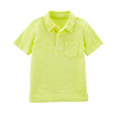 Carter's Short Sleeve Knit Polo Shirt - Toddler Boys