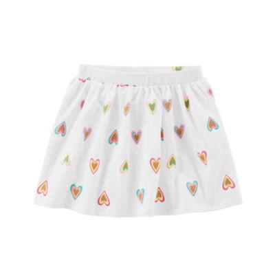 Carter's Heart Print Flared Skirt - Toddler Girls 2T-5T