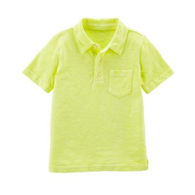 Carter's Short Sleeve Knit Polo Shirt - Baby Boys