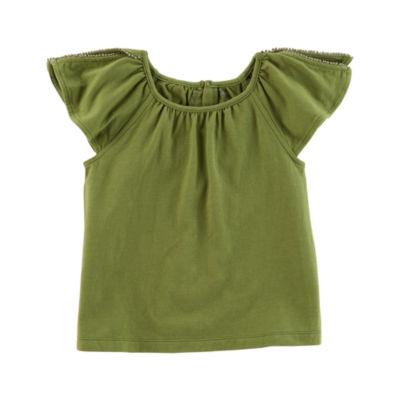 Carter's Short Sleeve Round Neck T-Shirt-Preschool Girls