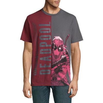 Deadpool Peeking Split Graphic Tee