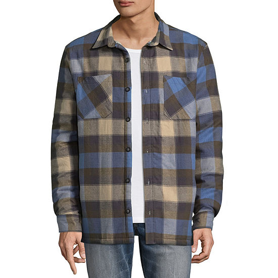 Vans Mens Long Sleeve Button-Front Jacket