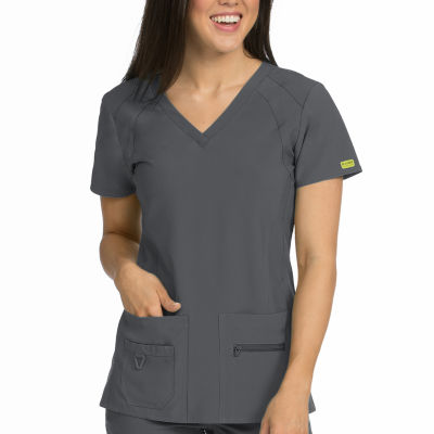 Med Couture Activate Refined V-neck Scrub Top - Plus