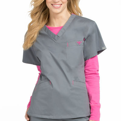 Med Couture 8403 Signature Classic V-Neck Scrub Top - Plus