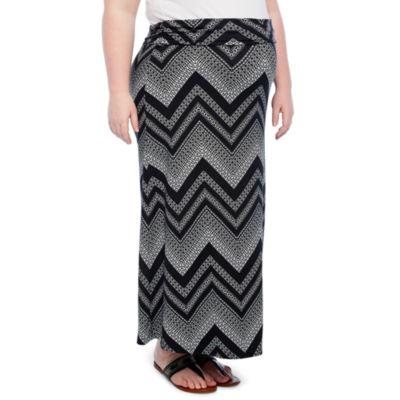 Planet Motherhood Maxi Skirt- Plus Maternity