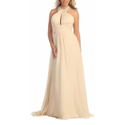 Special Occasion Long Halter Dress