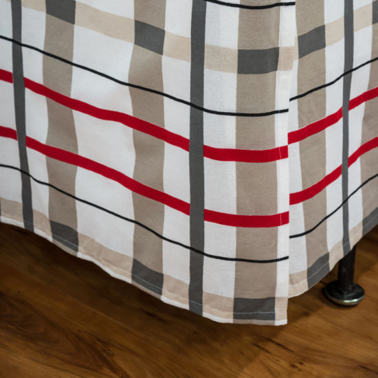 Rizzy Home Shawn Plaid Bed Skirt