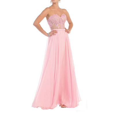 Strapless Sweetheart Pageant Dress
