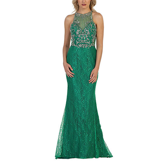 Formal Long Lace Evening Gown