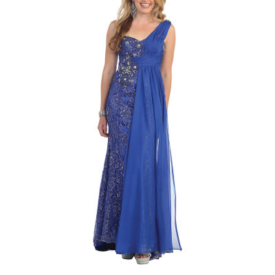 Beautiful One Shoulder Pageant Evening Gown
