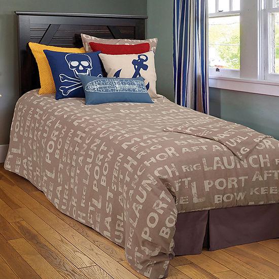 Rizzy Home Hunter Boating Terminology Riz Kidz Comforter Set