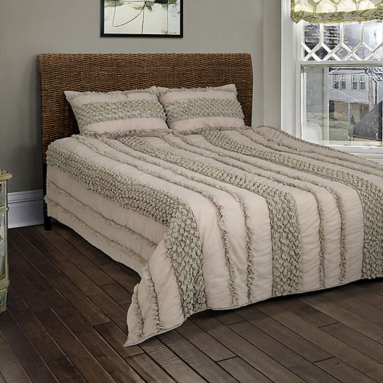 Rizzy Home Dilon Solid Textured Quilt Set