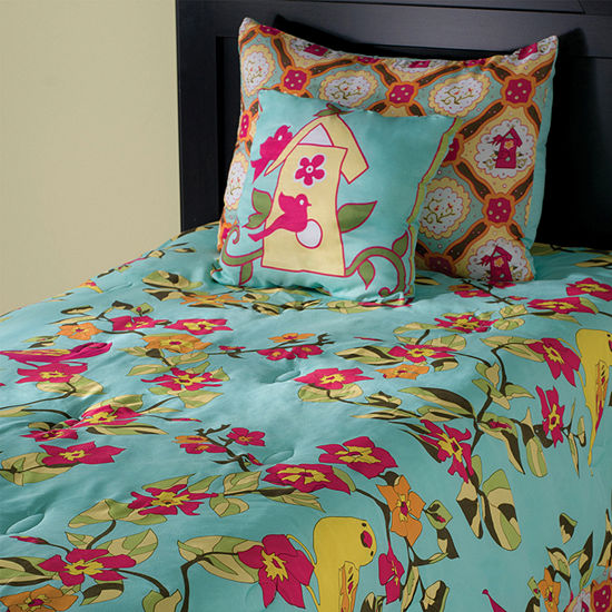Rizzy Home Adrian Floral 4 Piece Riz Kidz Comforter Set