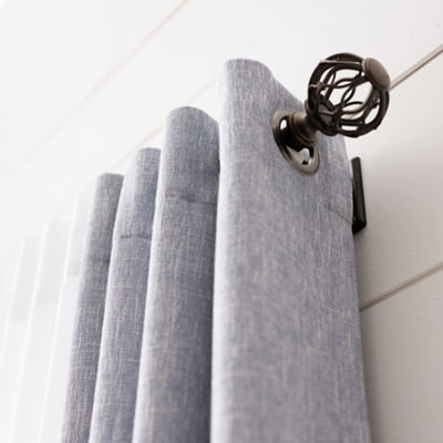 "JCPenney Home™ Twist Cage 1"" Adjustable Curtain Rod"
