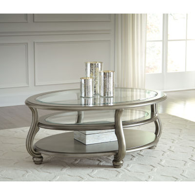 Signature Design by Ashley® Coralayne Oval Cocktail Table