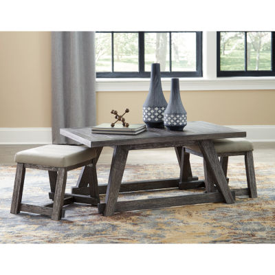 Signature Design by Ashley® 3-Piece Harpoli Cocktail Table and Stools Set