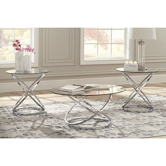 Signature Design By Ashley Piece Hollynyx Coffee Table Set JCPenney - Ashley signature coffee table set