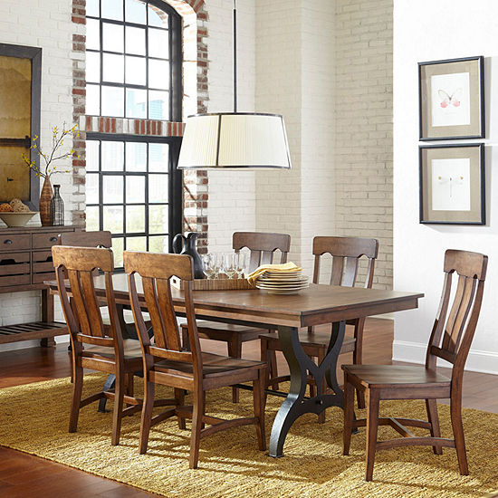 The District 7-Pc Standard Height Dining Set