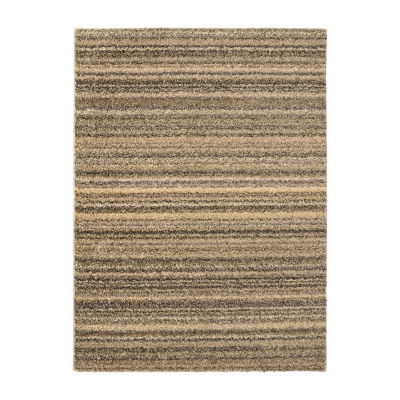 Garland Rug Stripe Shag Rectangular Area Rug