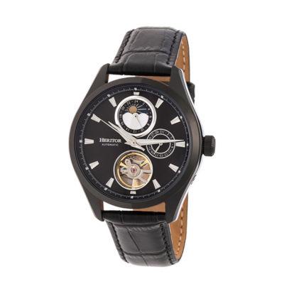 Heritor Unisex Black Strap Watch-Herhr6905