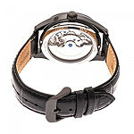 Heritor Mens Automatic Black Leather Strap Watch-Herhr6905