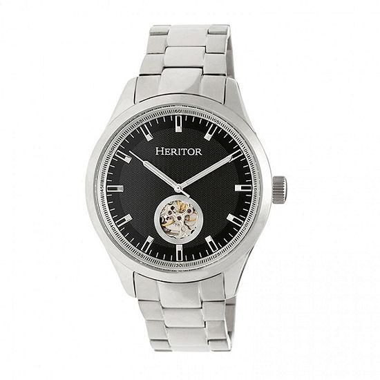 Heritor Unisex Silver Tone Automatic Bracelet Watch-Herhr7002
