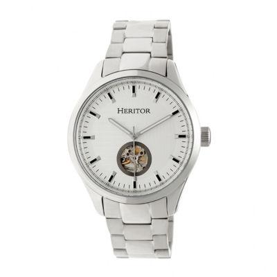 Heritor Unisex Silver Tone Bracelet Watch-Herhr7001
