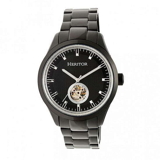 Heritor Unisex Black Bracelet Watch Herhr7003