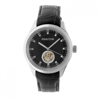 Heritor Unisex Black Strap Watch-Herhr7005