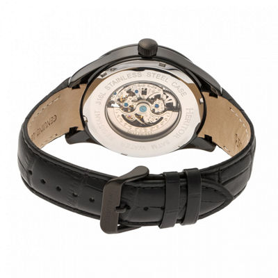 Heritor Unisex Black Strap Watch-Herhr7008
