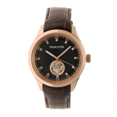 Heritor Unisex Brown Strap Watch-Herhr7007