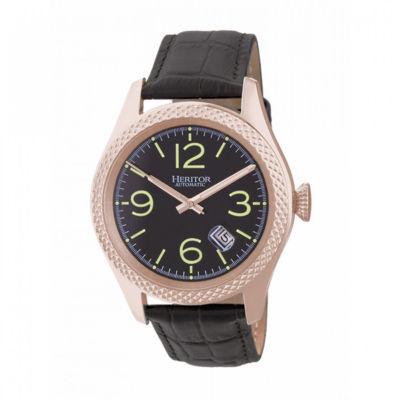 Heritor Unisex Black Strap Watch-Herhr7106