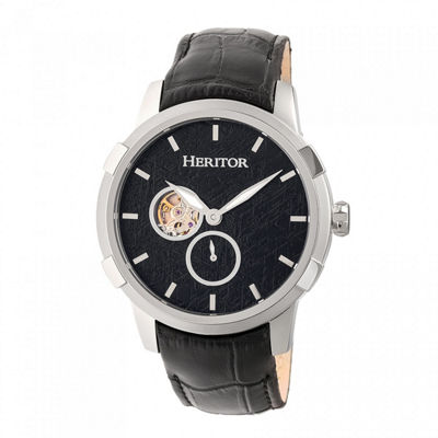 Heritor Unisex Black Strap Watch-Herhr7202