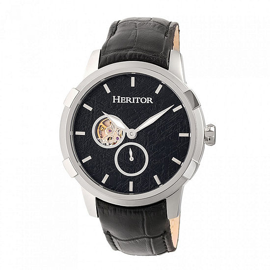 Heritor Unisex Black Automatic Strap Watch-Herhr7202