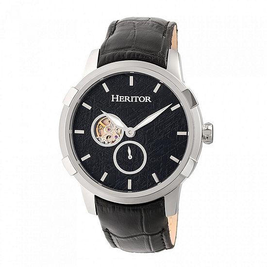 Heritor Unisex Black Strap Watch Herhr7202