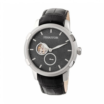 Heritor Unisex Black Strap Watch-Herhr7201