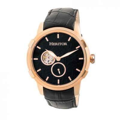 Heritor Unisex Black Strap Watch-Herhr7205