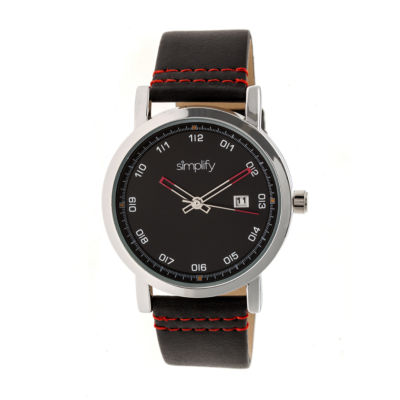 Simplify Unisex Black Strap Watch-Sim5302