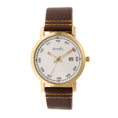Simplify Unisex Brown Strap Watch-Sim5304
