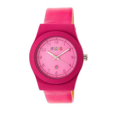 Crayo Unisex Pink Strap Watch-Cracr4104