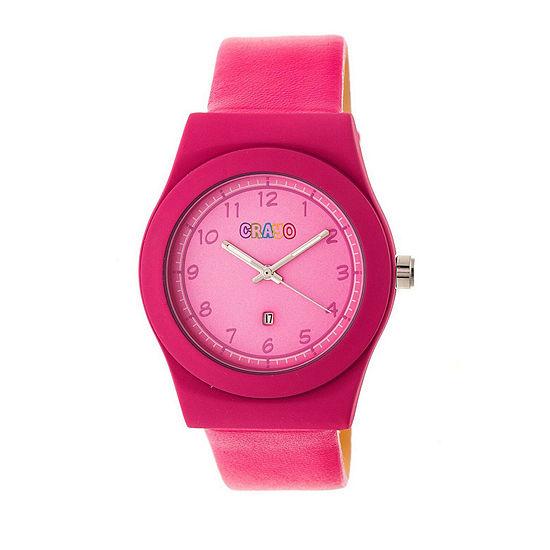 Crayo Unisex Pink Strap Watch Cracr4104