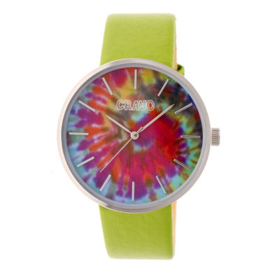 Crayo Unisex Green Strap Watch-Cracr4201