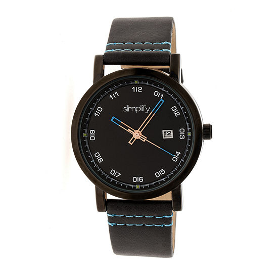 Simplify Unisex Black Strap Watch Sim5306